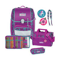 Scout Genius Schulthek Set Lilac Leaves